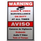 "ACA-SIGN-3, Video Security Warning Sign, Large Size 11""(W) x 18""(H)"
